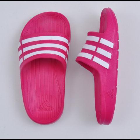 Chinelo Adidas Duramo Slide K Infantil - Rosa N°: 33-34 (Brasil)