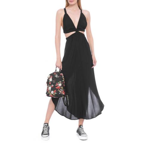 Vestido Farm midi cintura ela preto T:G ( Produto novo)