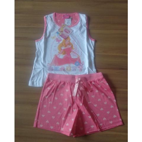 Pijama Lupo Short Doll Bela T:  6 anos Novo