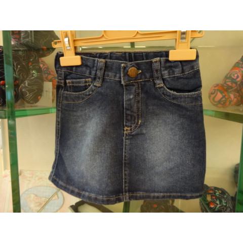 Saia jeans Mimo e Co, 4 anos