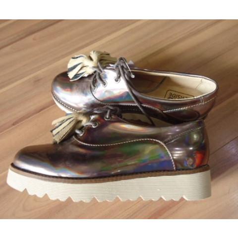 Sapato Oxford Kids Seaside metalizado T:32