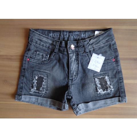 Short Jeans Infantil Monster High TAM:8 anos