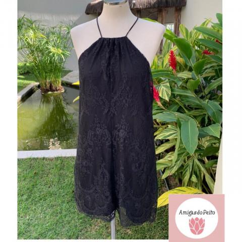 Vestido Dress to renda delicada sobreposto T: M Doado por Dress to