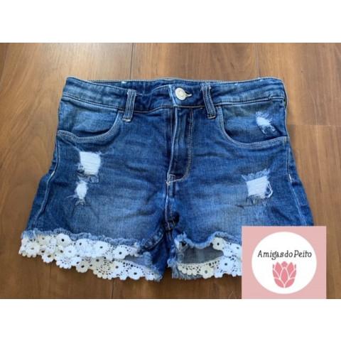 Short jeans T: 9-10 anos Doado por Tati carvalho
