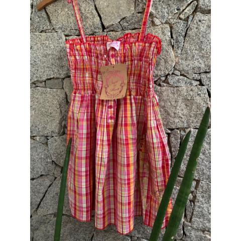 Vestido Quadriculado Sugar & Honey T: 6 anos ( com etiqueta da loja)
