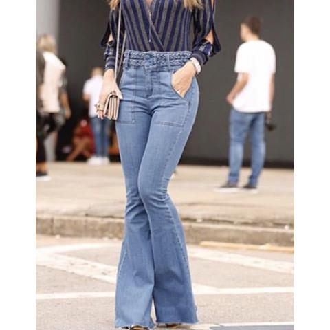 Calça jeans Mixed  flaire T: 34