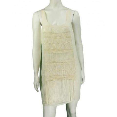Vestido A.Brand macramê seda, tamanho 38
