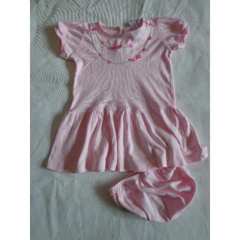 Vestido rosa, 6-12 meses Fofo!