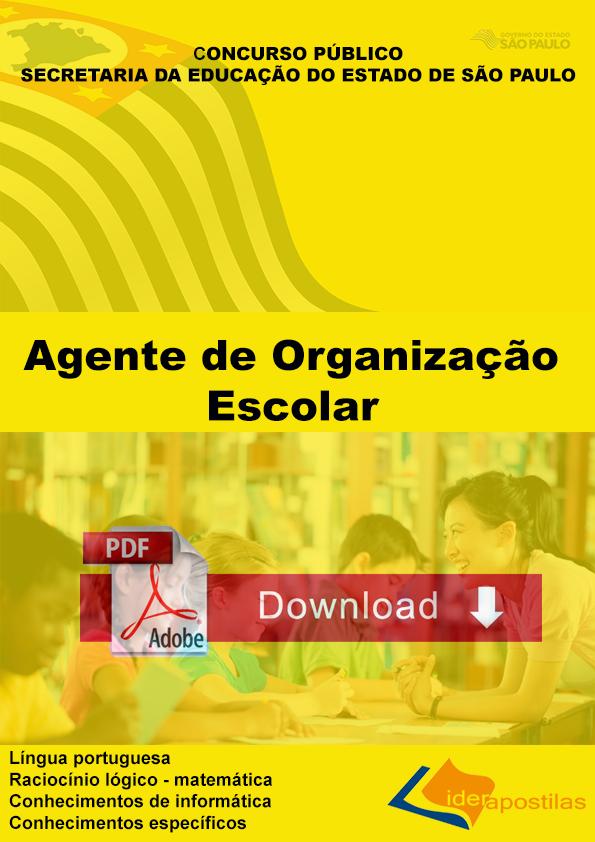 Apostila Agente Organização Escolar - Educação SP Download