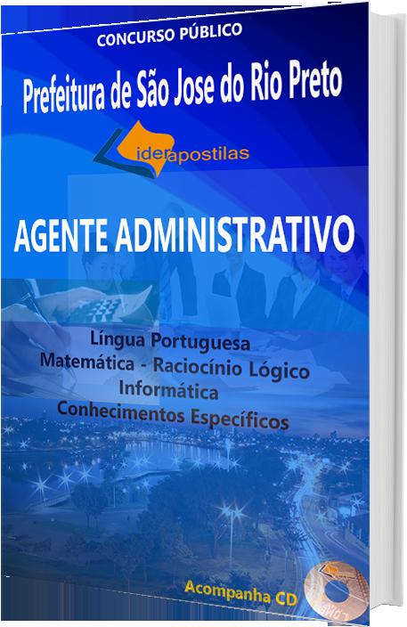 Apostila Concurso Agente Administrativo da Prefeitura  de São Jose do Rio Preto