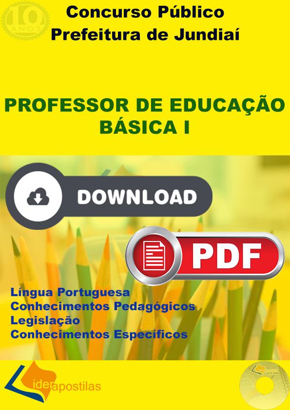 Apostila Professor Educação Básica I - Prefeitura Jundiaí