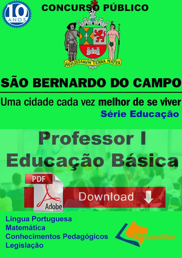Apostila Professor I Educação Básica - S Bernardo do Campo - Download