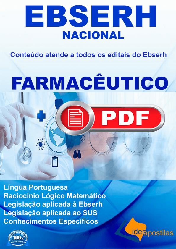 Farmacêutico Ebserh digital concursos