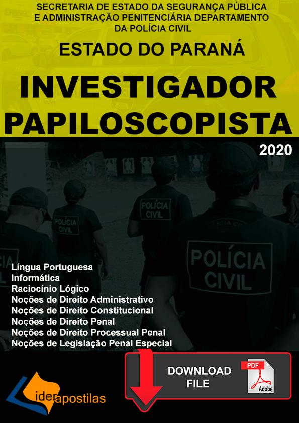 Apostila Policia Civil Investigador e Papiloscopista PR