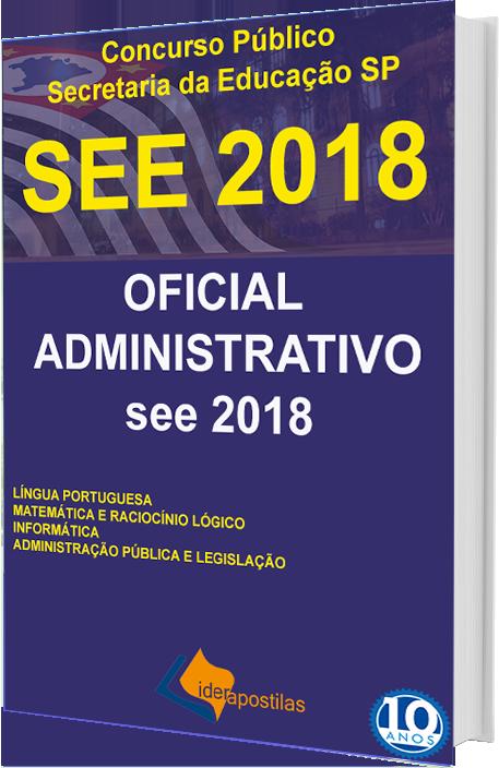 Concurso Público Oficial Administrativo Secretaria da Educação SP ... 652e31bbc6831
