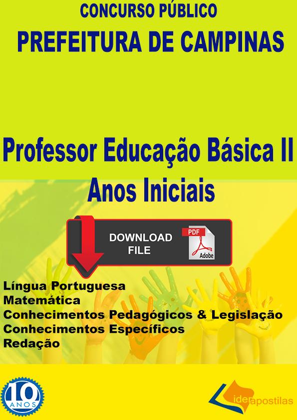 Professor Séries iniciais