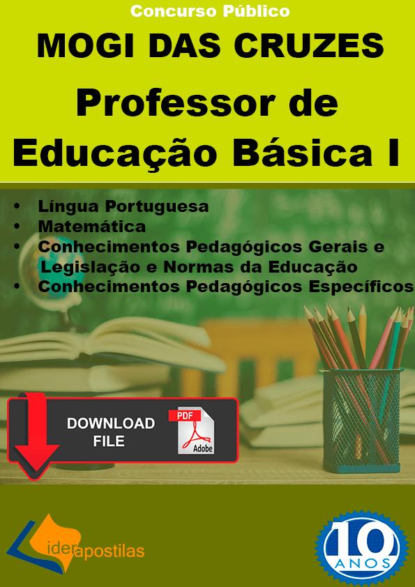 Professor educação básica I Mogi Cruzes apostilas