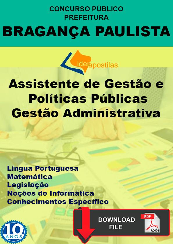 Apostila Assistente Bragança Paulista