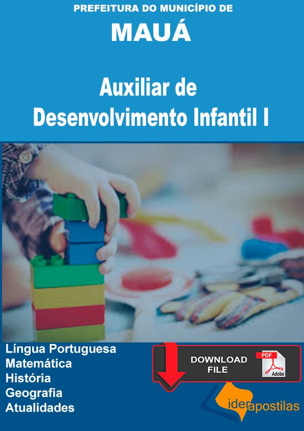 Apostila Auxiliar de Desenvolvimento Infantil Prefeitura de Maúa - PDF
