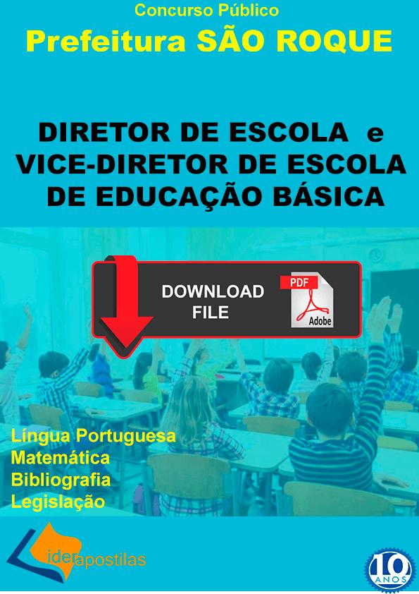 Apostila Diretor Escola de São Roque