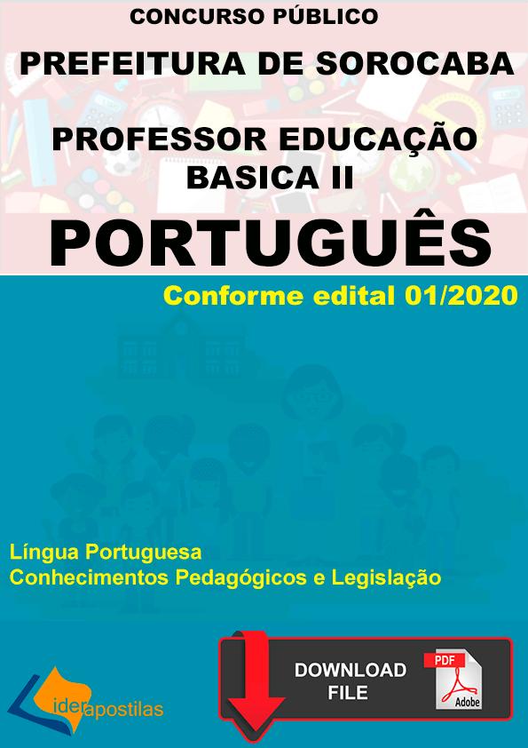 concurso professor português sorocaba