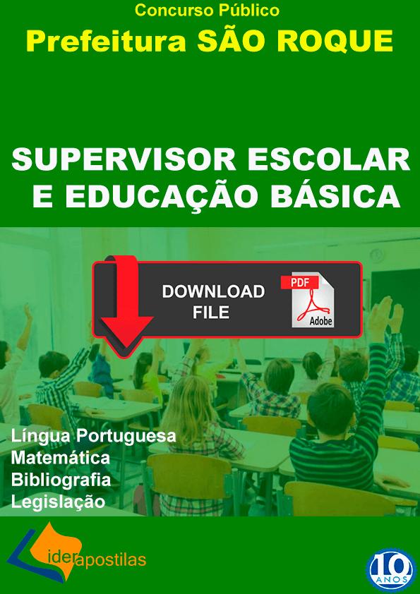 Apostila Supervisor Escolar São Roque