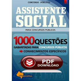 Apostila digital para Assistente Social 1000 Questões