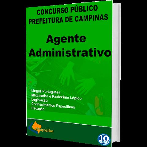 Apostila Agente Administrativo Prefeitura de Campinas 2019
