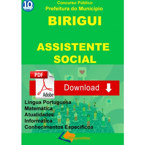Apostila Concurso Assistente Social Prefeitura Birigui - Digital