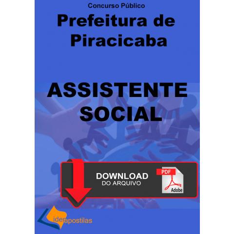 Apostila Assistente Social Prefeitura Piracicaba - Digital