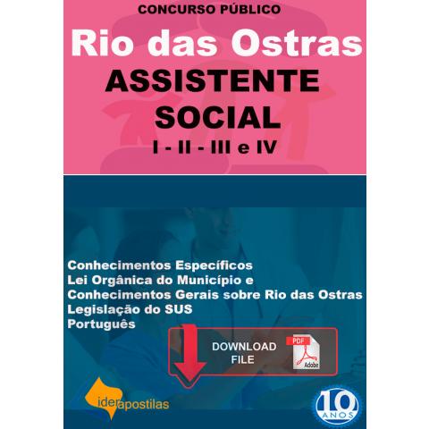 Apostila Assistente Social Prefeitura Rio das Ostras