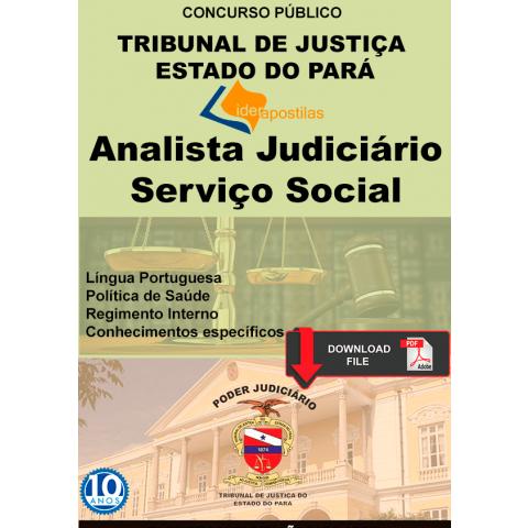 Apostila Assistente Social Tribunal Justiça Pará TJ PA digital
