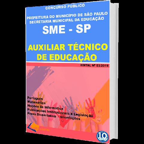 Apostila Auxiliar Tecnico Educação Prefeitura São Paulo