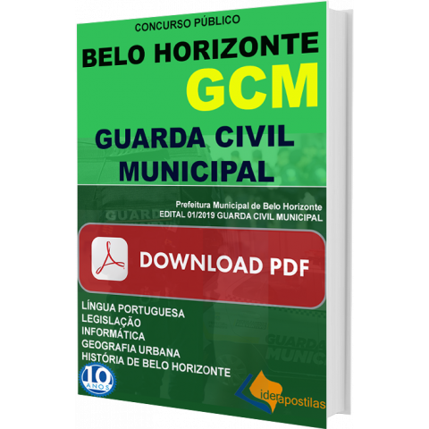 Apostila GCM Guarda Civil Municipal Belo Horizonte DIGITAL