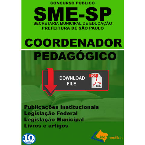 Apostila Coordenador Pedagógico Prefeitura SP Digital