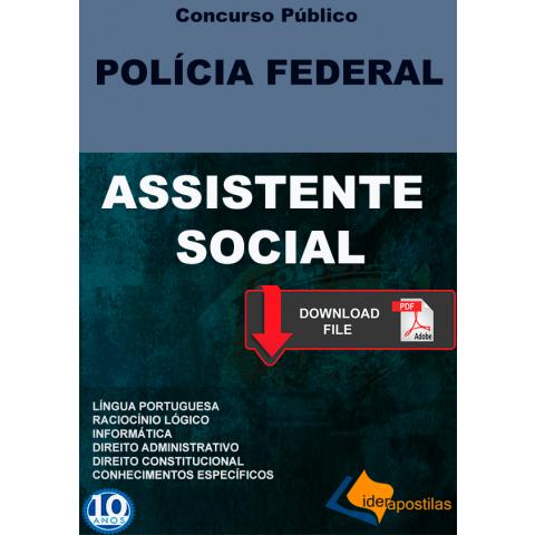 Apostila Assistente Social Concurso Policia Federal - digital