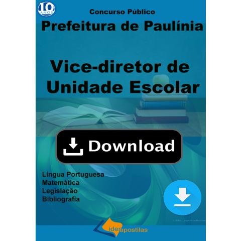 Apostila Vice Diretor Unidade Escolar de Paulinia Download