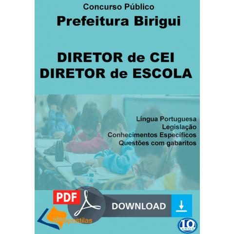 Apostila Diretor de Escola e Diretor CEI - Birigui - Digital