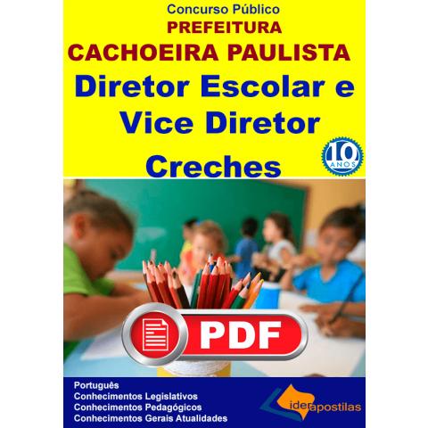 Concurso Diretor e Vice Diretor Escolar e Creche Cachoeira Pta -PDF