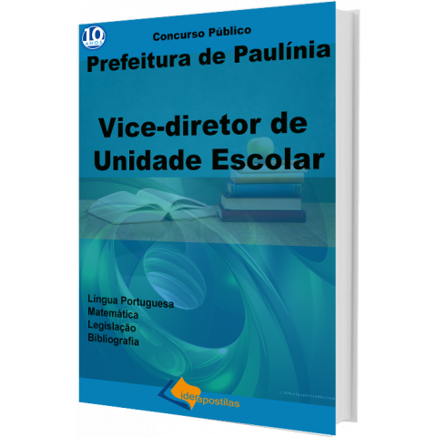Apostila Vice Diretor Unidade Escolar de Paulinia impressa