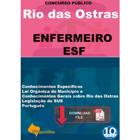 Apostila Enfermeiro ESF de Rio das Ostras - PDF