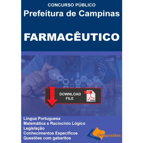 Apostila Digital Farmacêutico Concurso Campinas