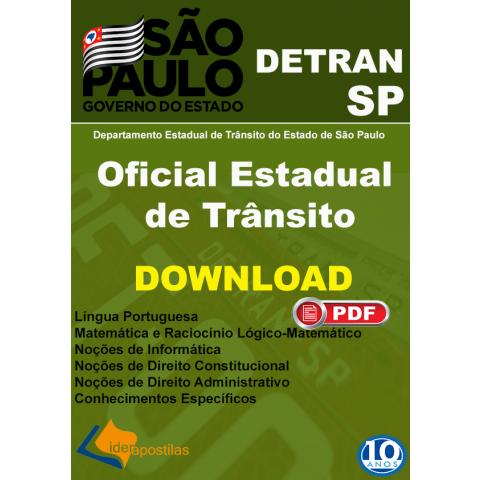 Apostila Oficial Estadual de Trânsito Detran SP Download