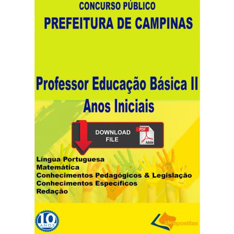 Apostila Professor Peb I Séries Iniciais Prefeitura Campinas - Digital