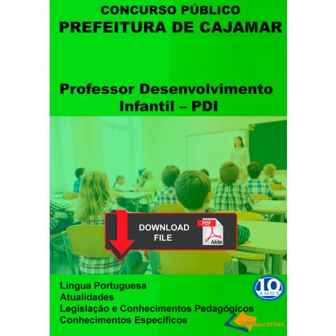 Apostila Professor Desenvolvimento Infantil PDI Cajamar DIGITAL