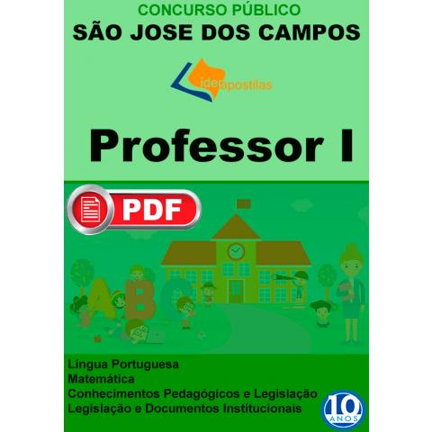 Apostila Professor I Prefeitura S.Jose Campos -PDF