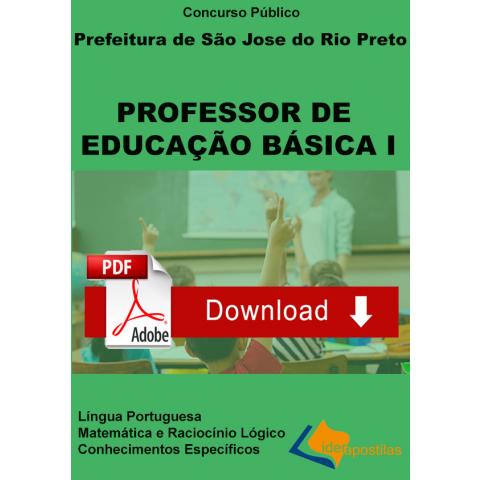 Apostila Professor Educação Básica I São Jose Rio Preto - DIGITAL