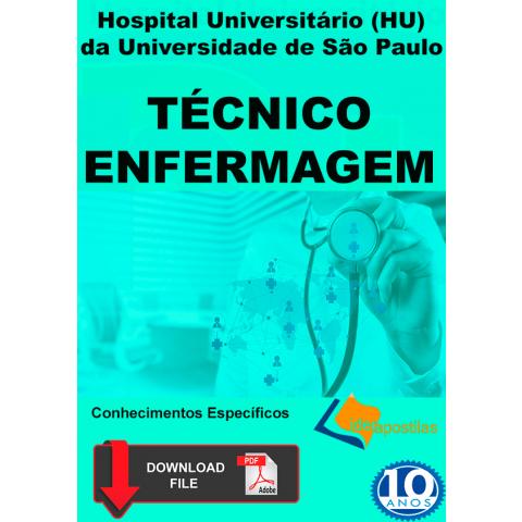 apostila Técnico Enfermagem Hospital Universitário USP. Digital