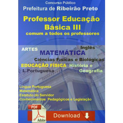 Apostila Professor Educação Básica III Básico todas áreas - Download