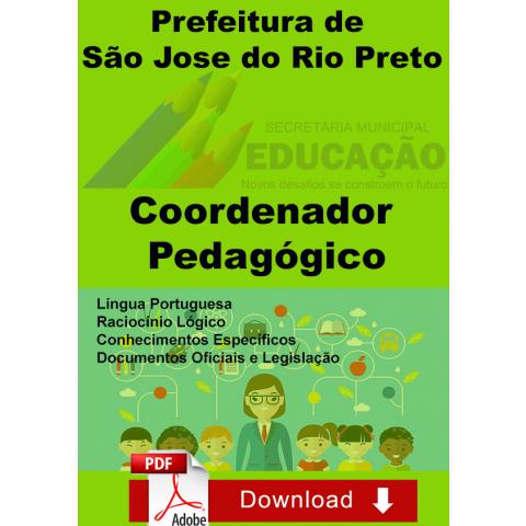Apostila Coordenador Pedagógico de São Jose do Rio Preto download